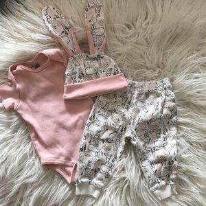 3-piece bunny outfit